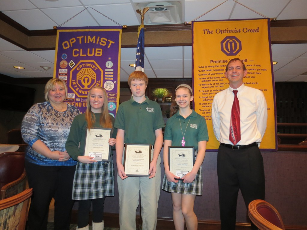 optimist essay contest 2015 Each winter, the leesburg optimist club holds an essay contest for juniors and   the topic for the 2015 essay contest was optimism should be a priority.