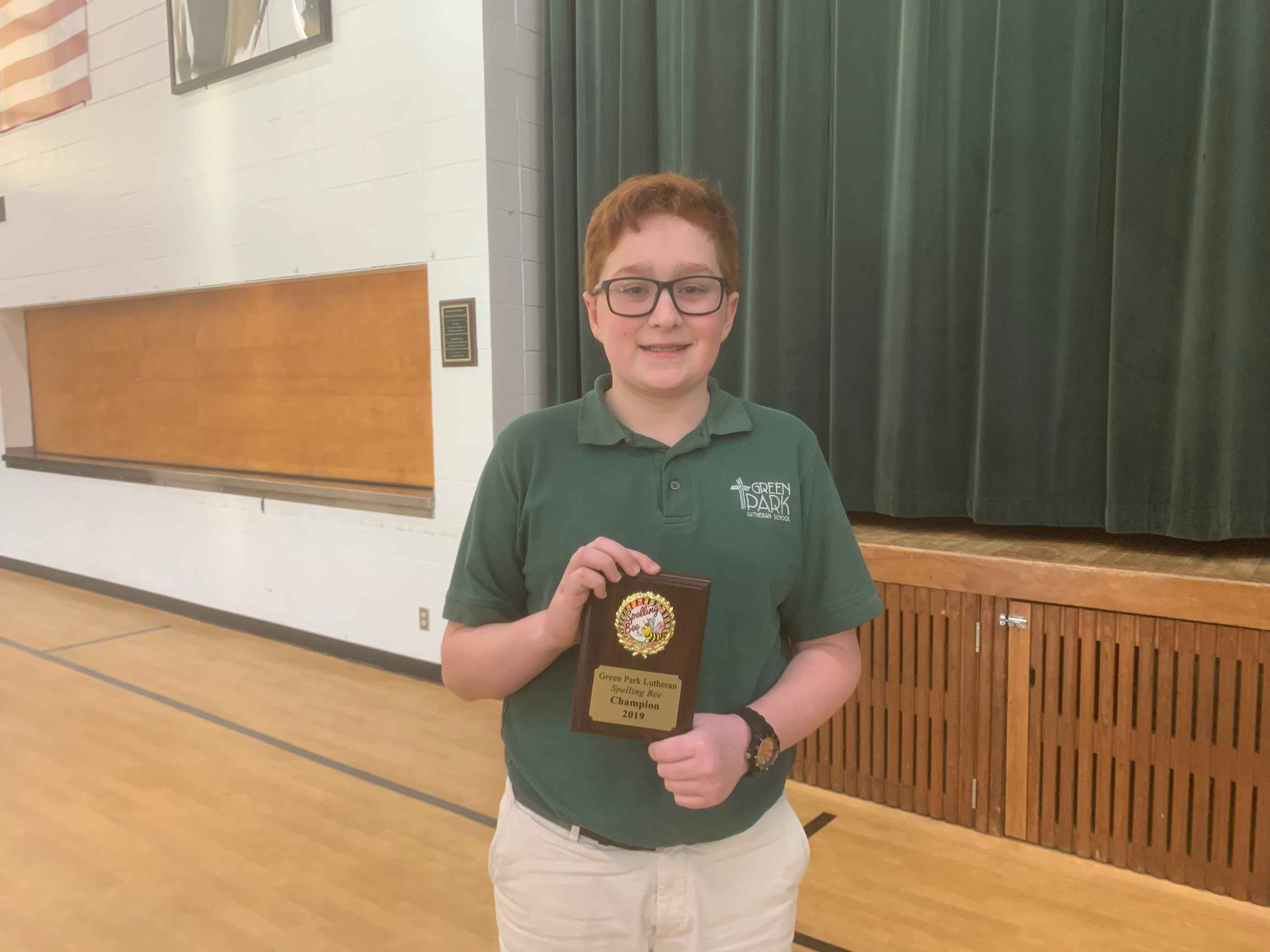 2019 Spelling Bee Champion – Ethan H.